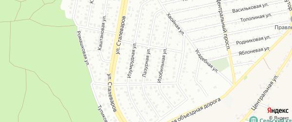 Лазурная улица на карте Старого Оскола с номерами домов