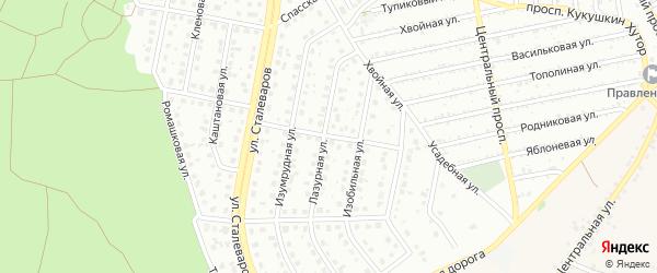 Лазурный переулок на карте Старого Оскола с номерами домов