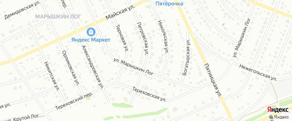 Петровская улица на карте Старого Оскола с номерами домов