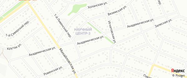 Академическая улица на карте Старого Оскола с номерами домов