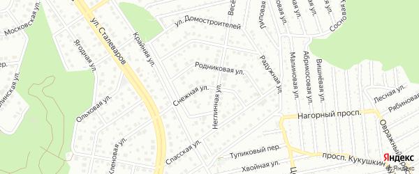 Снежная улица на карте Старого Оскола с номерами домов