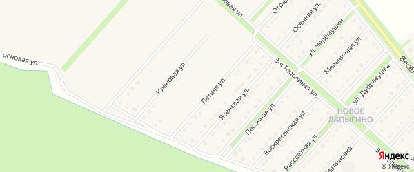 Летняя улица на карте Новокладового села с номерами домов