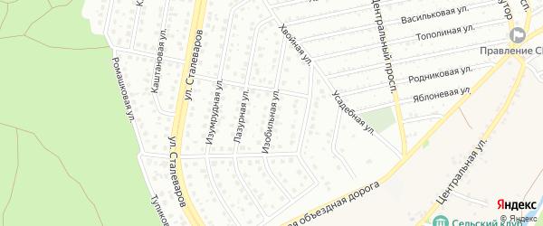 Изобильная улица на карте Старого Оскола с номерами домов
