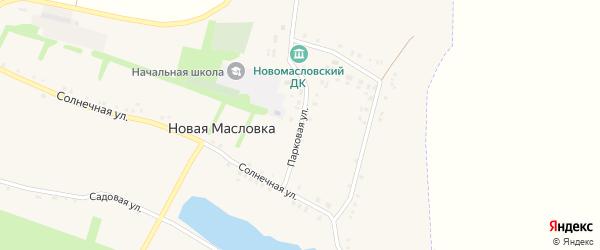 Парковая улица на карте села Новой Масловки с номерами домов
