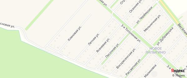 Летняя улица на карте села Лапыгино с номерами домов