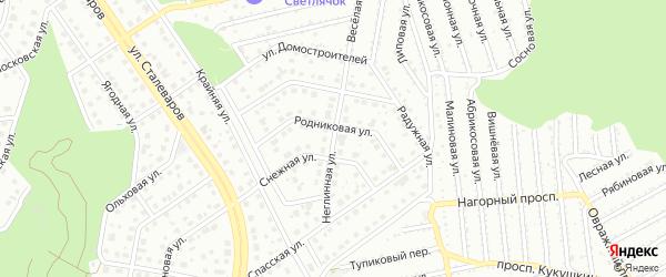 Неглинная улица на карте Старого Оскола с номерами домов