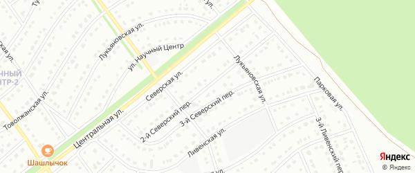 2-й Северский переулок на карте Старого Оскола с номерами домов
