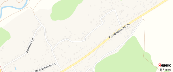 Октябрьский переулок на карте села Незнамово с номерами домов