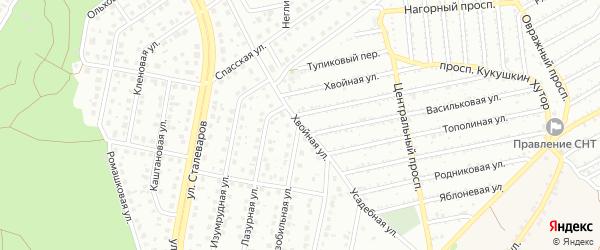 Хвойная улица на карте Старого Оскола с номерами домов