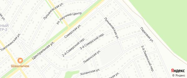 3-й Северский переулок на карте Старого Оскола с номерами домов