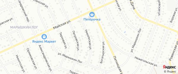 Никольская улица на карте Старого Оскола с номерами домов