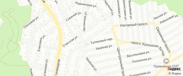 Радужная улица на карте Старого Оскола с номерами домов