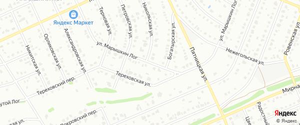Улица Марышкин лог на карте Старого Оскола с номерами домов