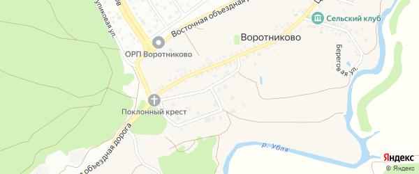 2-й Центральный переулок на карте села Воротниково с номерами домов