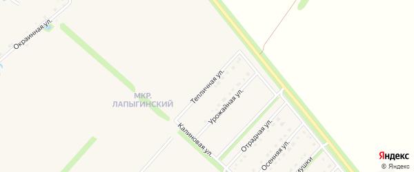 Тепличная улица на карте Новокладового села с номерами домов