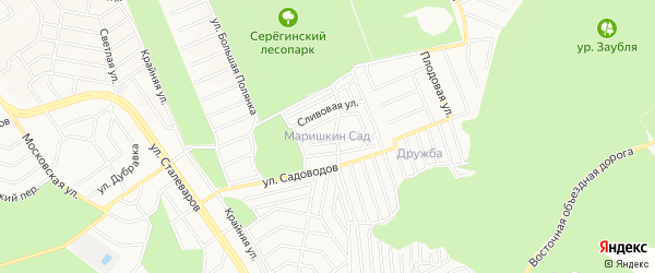 СТ Маришкин сад на карте Старого Оскола с номерами домов