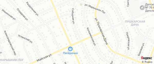 Соборная улица на карте Старого Оскола с номерами домов