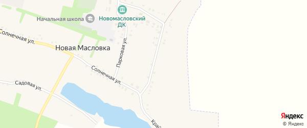 Крайняя улица на карте села Новой Масловки с номерами домов