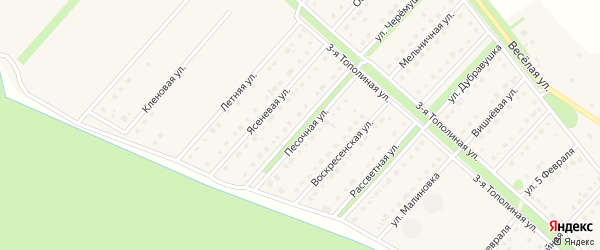 Песочная улица на карте села Лапыгино с номерами домов