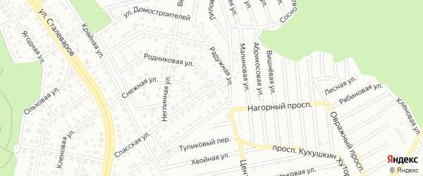 Родниковая улица на карте Старого Оскола с номерами домов