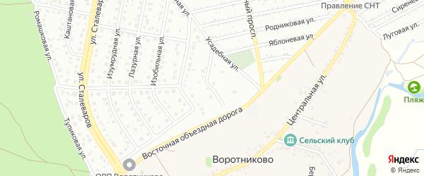 Усадебный переулок на карте Старого Оскола с номерами домов