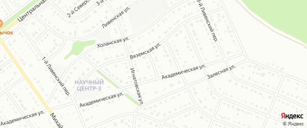 1-й Вяземский переулок на карте Старого Оскола с номерами домов