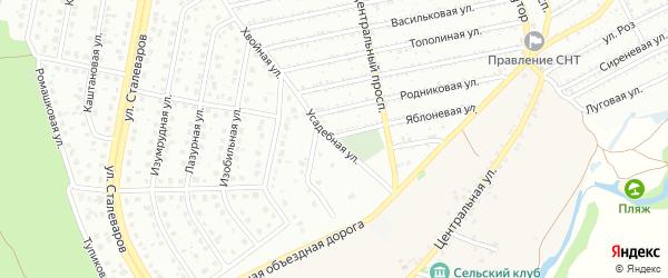 Усадебная улица на карте Старого Оскола с номерами домов