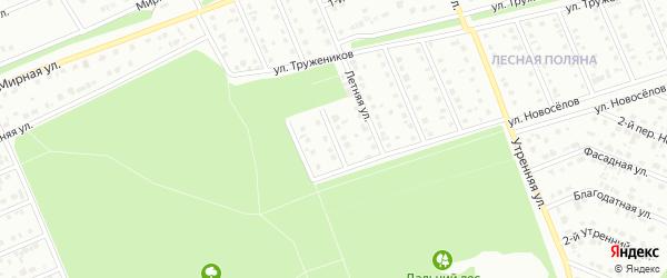Переулок 1-й Монтажников на карте Старого Оскола с номерами домов