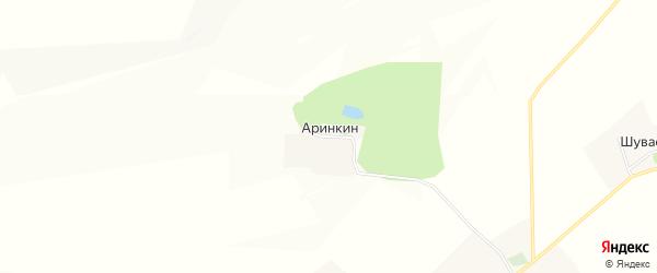 Карта хутора Аринкина в Белгородской области с улицами и номерами домов