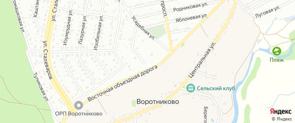 Хвойный переулок на карте Старого Оскола с номерами домов