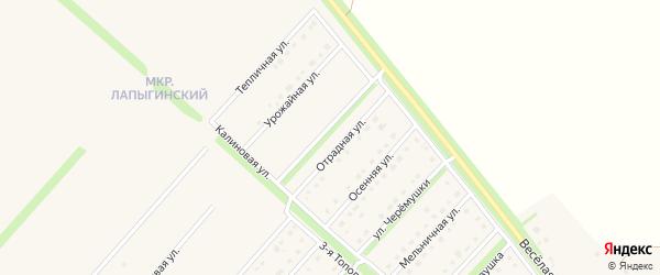 Отрадная улица на карте Новокладового села с номерами домов