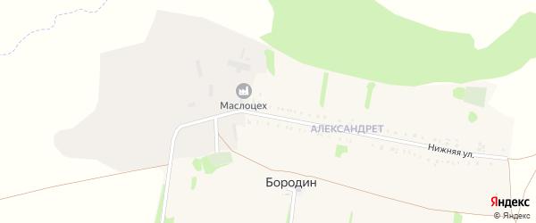 Верхняя улица на карте хутора Бородина с номерами домов