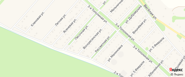 Воскресенская улица на карте села Лапыгино с номерами домов