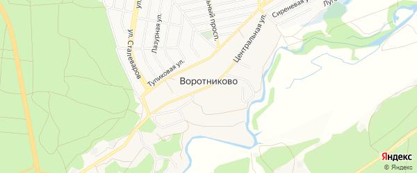 Карта села Воротниково в Белгородской области с улицами и номерами домов