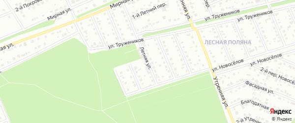Летняя улица на карте Старого Оскола с номерами домов