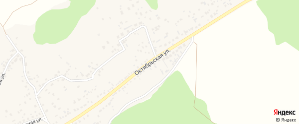 Октябрьская улица на карте села Незнамово с номерами домов