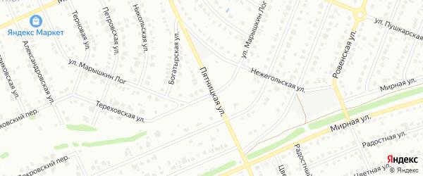 Пятницкая улица на карте Старого Оскола с номерами домов