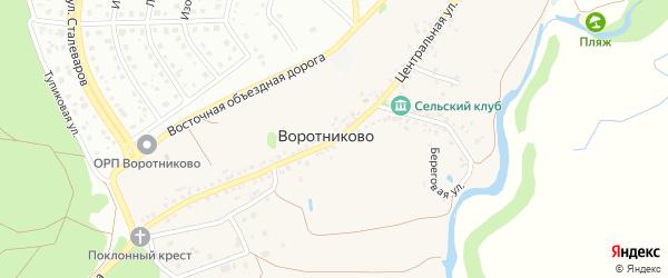 Центральная улица на карте села Воротниково с номерами домов