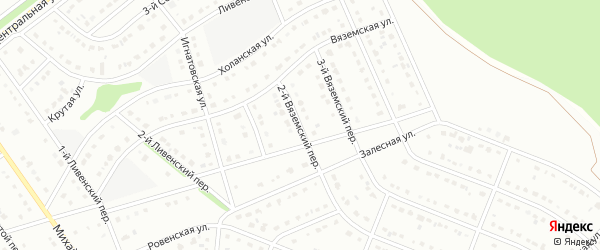 2-й Вяземский переулок на карте Старого Оскола с номерами домов