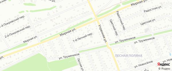 1-й Летний переулок на карте Старого Оскола с номерами домов