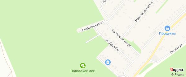 Стойленский переулок на карте села Лапыгино с номерами домов