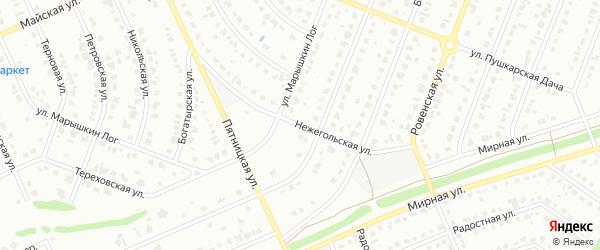 Нежегольская улица на карте Старого Оскола с номерами домов