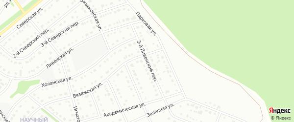 3-й Ливенский переулок на карте Старого Оскола с номерами домов