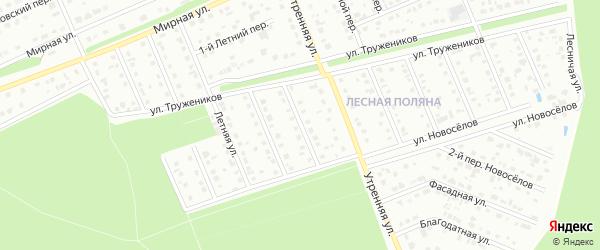Переулок 3-й Монтажников на карте Старого Оскола с номерами домов