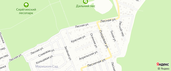 Красная улица на карте Старого Оскола с номерами домов
