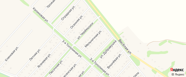 Мельничная улица на карте села Лапыгино с номерами домов