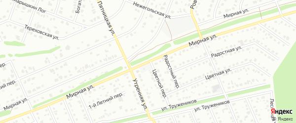 Мирная улица на карте Старого Оскола с номерами домов