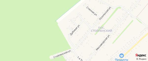 Дубовая улица на карте села Лапыгино с номерами домов