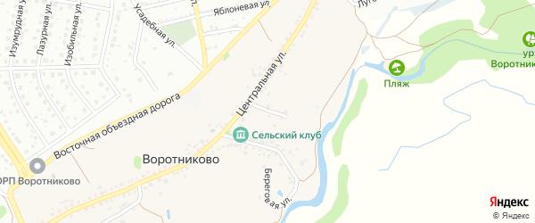 Центральный переулок на карте села Воротниково с номерами домов