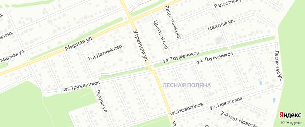 Улица Тружеников на карте Старого Оскола с номерами домов